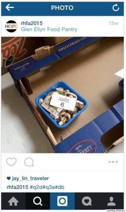 Instagram screenshot showing a photo of mushrooms